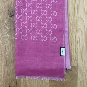 Gucci Monogrammed Silk Blend Scarf